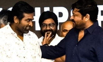 Vijay Sethupathi's emotional moments with Megastar Chiranjeevi