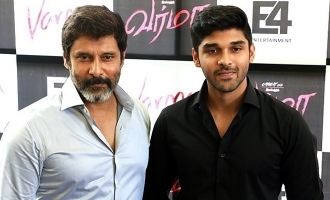 Dhruv's emotional message to Chiyaan Vikram!