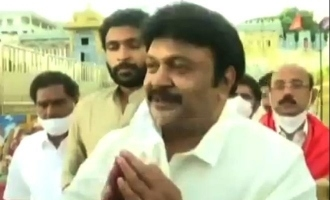 Why Prabhu visited Tirupathi with his family?