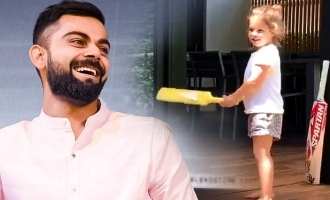 David Warner's little daughter becomes Virat Kohli - Cute video
