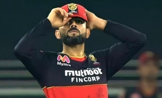 IPL 2021: Virat Kohli smashes chair in anger after getting out; Video goes viral