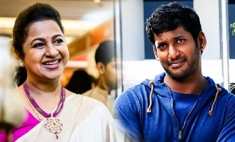 Vishal meets Radhika and Sarathkumar!