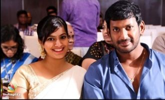 Varalakshmi admits knowing Vishal's Hyderabad lover