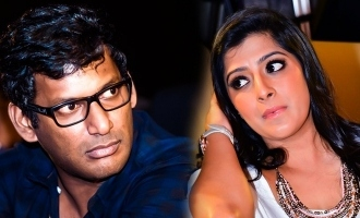 Varalakshmi trolls Vishal in front of media