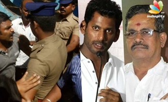 Vishal supporters and Suspended members clash at Nadigar Sangam premises