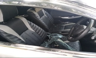 Vishal's manager's car attacked and badly damaged by unknown persons