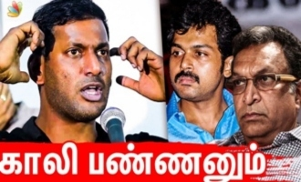 They are threatening me in many ways - Vishal angry speech
