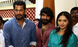 Vishal and Sunainaa reunite for new movie after 8 years  - Exciting details and photos