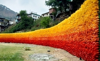 'Wall of Hope' Built with 15000 Plastic Bottles Near Mussoorie