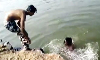 [Video] Shocking: Man drowns in river, friends record video of him dying
