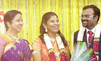 Karthi, Sivakumar, Radhika attends SP Muthuraman Grand Daughter Wedding
