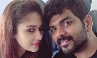 vignesh sivan instagram post of Nayanthara in romance still