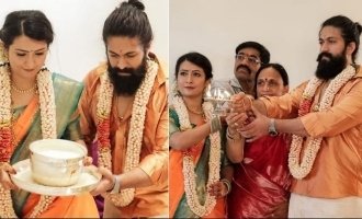 'KGF' star Yash conducts housewarming pooja at his brand new house