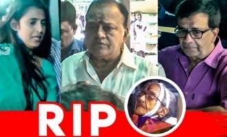 Kasthuri, Radha Ravi Pays Last Respects I YG Mahendra I Rajalakshmi Parthasarathy Passes Away