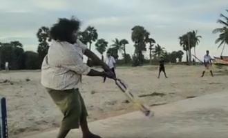 யோகிபாபுவின் சூப்பர் பேட்டிங் ஸ்டைல்: வைரல் வீடியோ