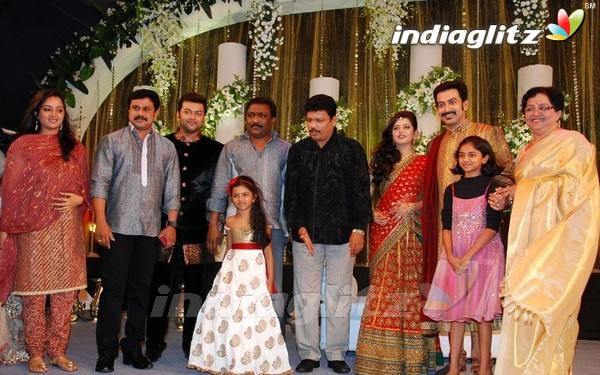 Eventsprithviraj Supriya Menon Wedding Reception Photos