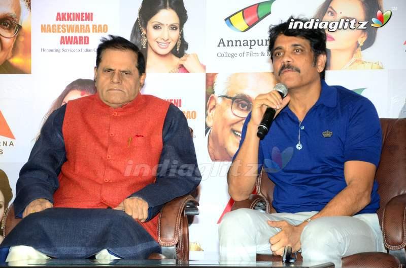 Nagarjuna Press Meet About ANR Awards