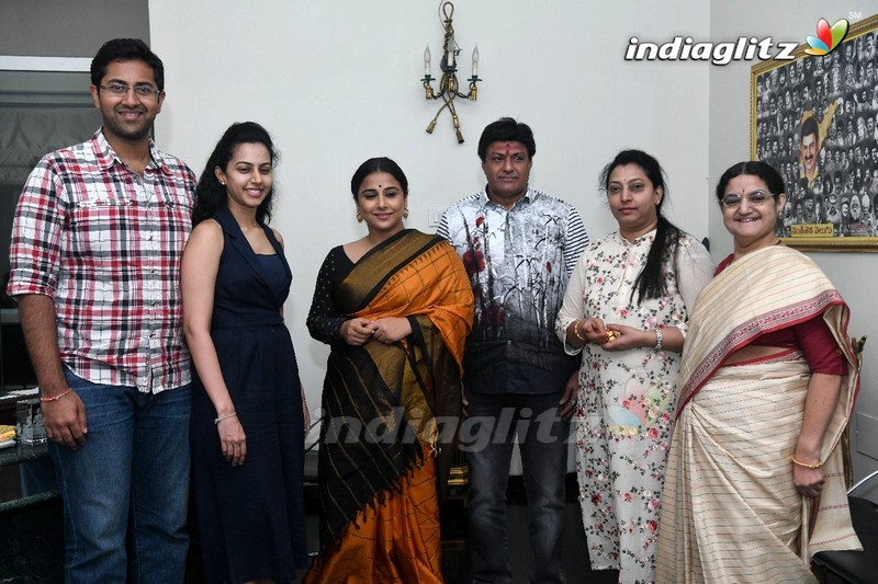 Balakrishna Family Welcomes Vidya Balan