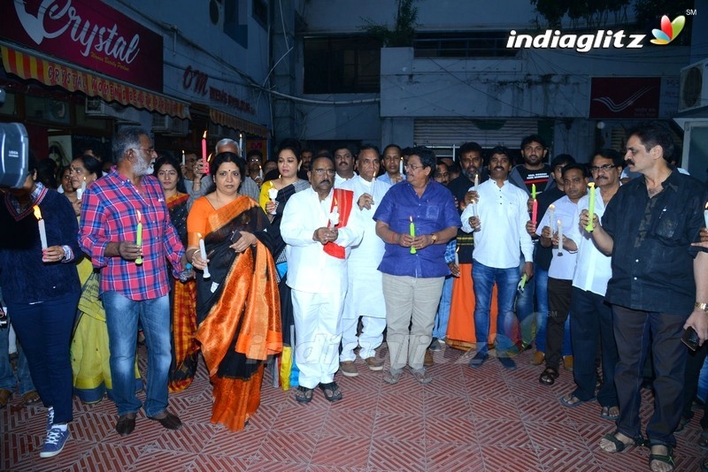Telugu Film Industry 'Disha' Candle Rally