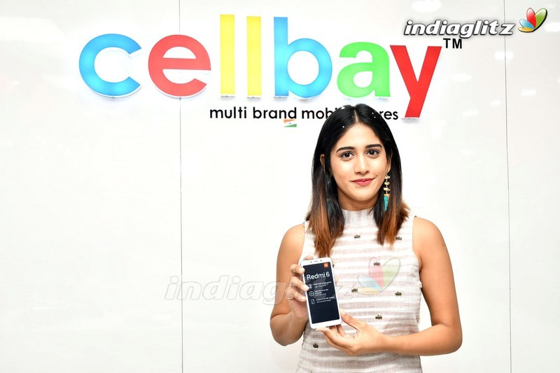 Chandini Chowdary Launches RedMi 6 Mobile