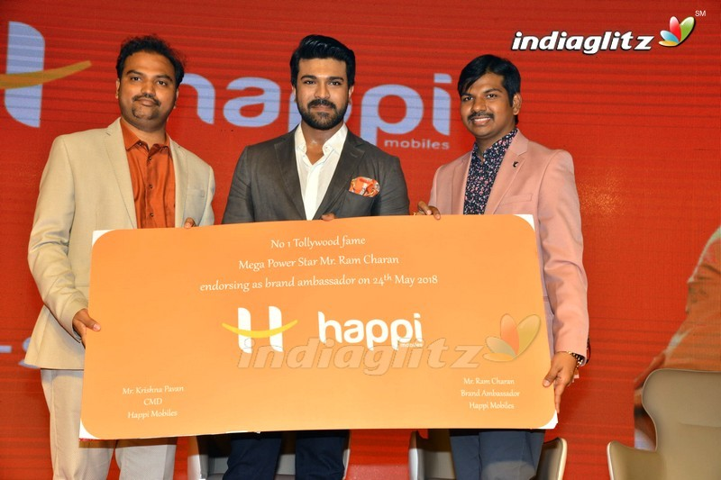Happi Mobiles Brand Ambassador Ram Charan Press Meet