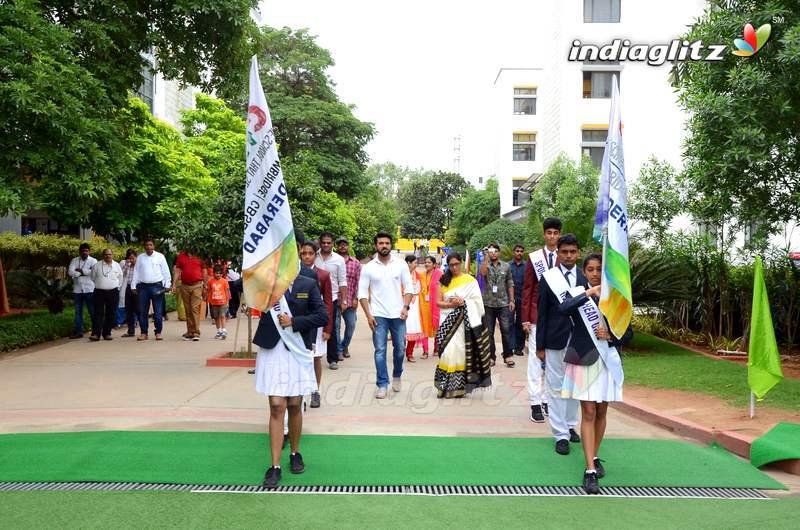 Ram Charan Celebrates Independence Day At Chirec School