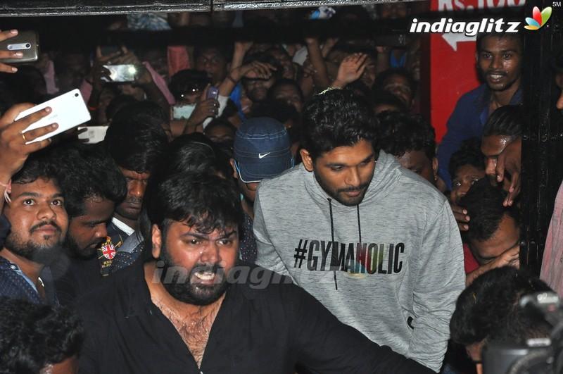 'Duvvada Jagannadham' Movie Team at Sandhya Theatre