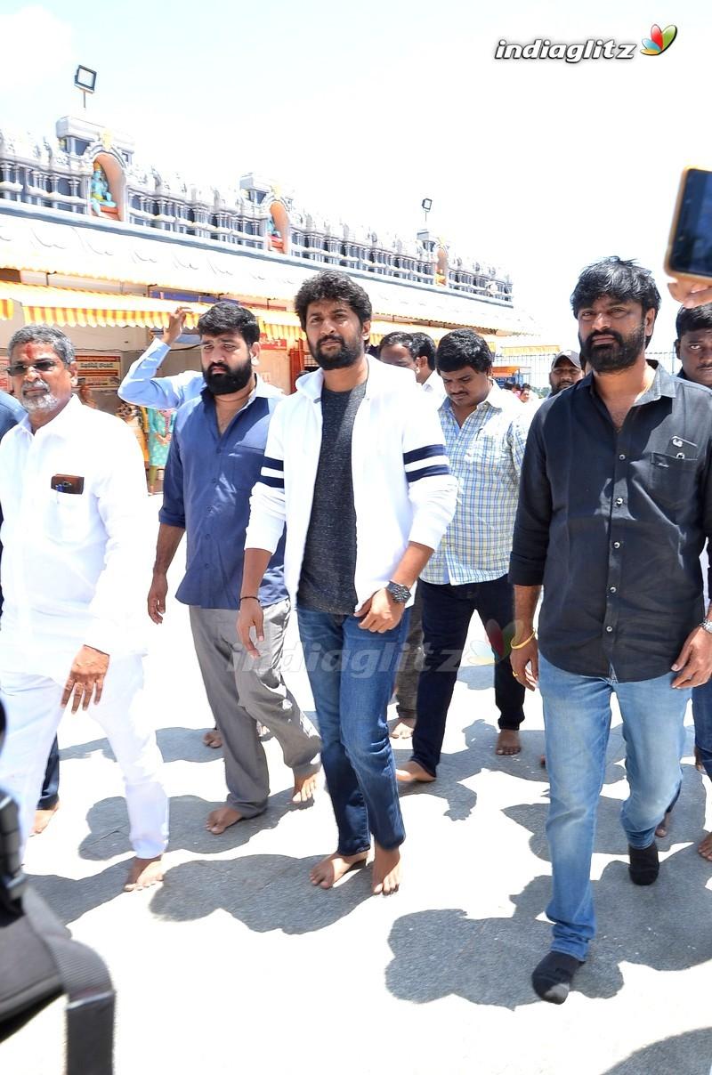 Nani & Team @ Gang Leader Promotions in Vijayawada
