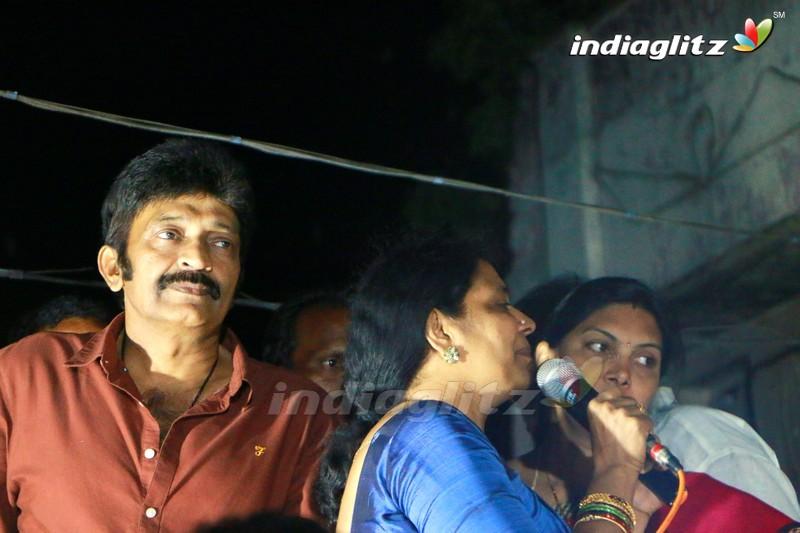Jeevitha Rajasekhar Campaigning for Ysrcp at Tanuku , Venkatarayapuram
