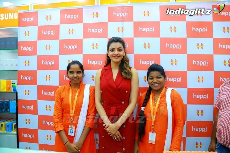 Kajal Agarwal Launches Happi Mobiles @ Hanumakonda