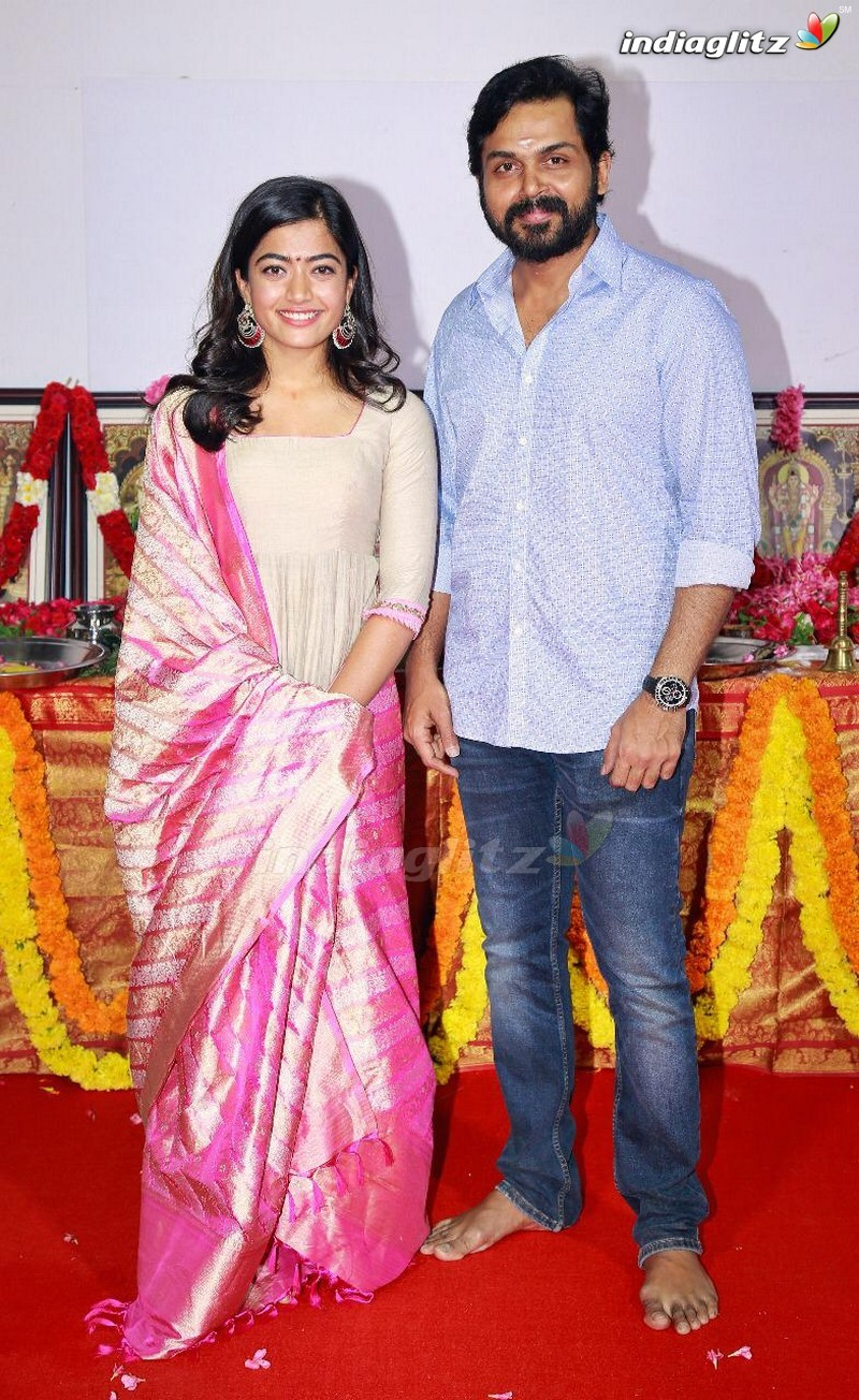 Karthi - Rashmika Mandanna New Movie Launch