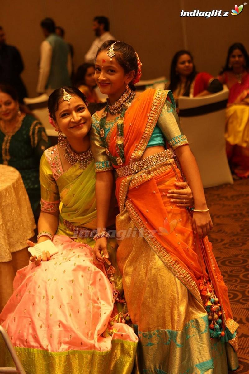 Events - Mahesh Babu Family @ Manjula's Daughter Half Saree