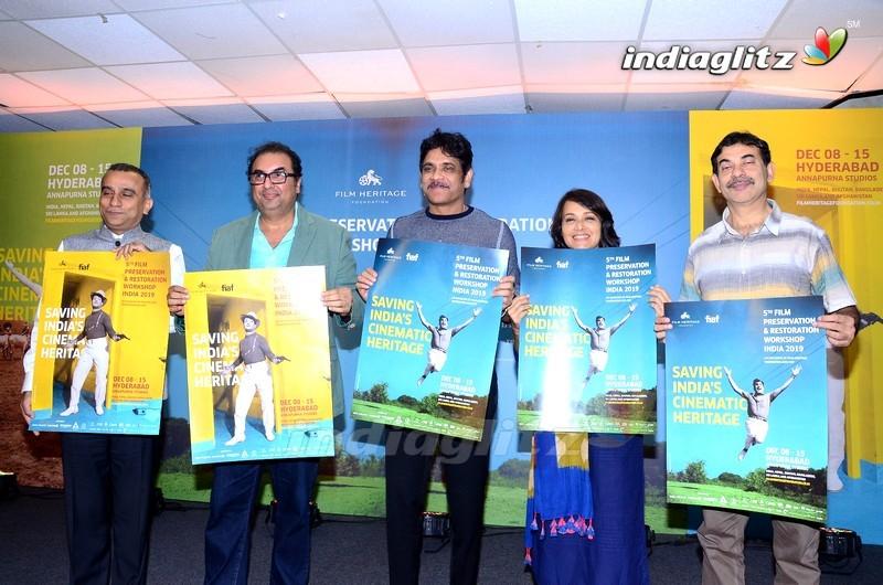 Nagarjuna & Amala Launches 5th Film Preservation & Restoration Work Shop Indai 2019 Poster
