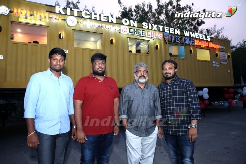 Nikhil Launches Kitchen On Sixteen Wheels Food Truck at Gachibowli