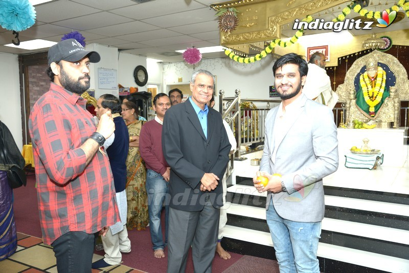 Nikhil Visited Sai Datta Matam In USA
