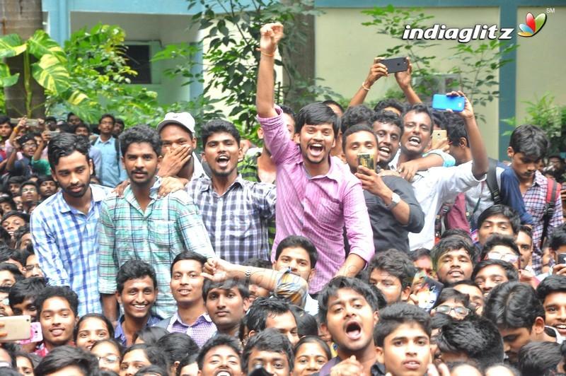 'Nene Raju Nene Mantri' Team @ K L University