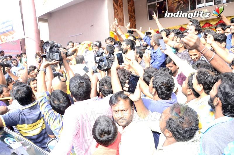 Balakrishna and Puri Jagannadh Watch 'Paisa Vasool' At Bramaramba Theater,Hyd