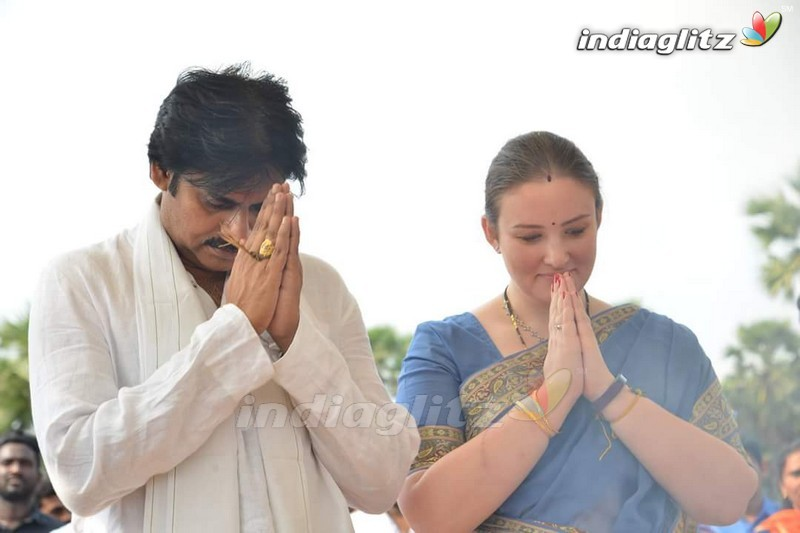 Pawan Kalyan's Amaravathi House Foundation Ceremony