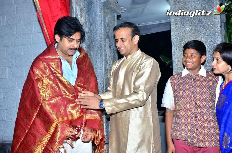 Pawan Kalyan @ Andhra Prabha Ganesh Pooja