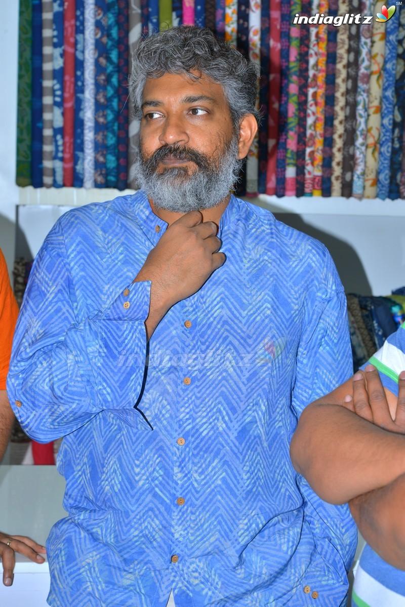 Rajamouli & Srivalli At Costumes Krishna Store Opening