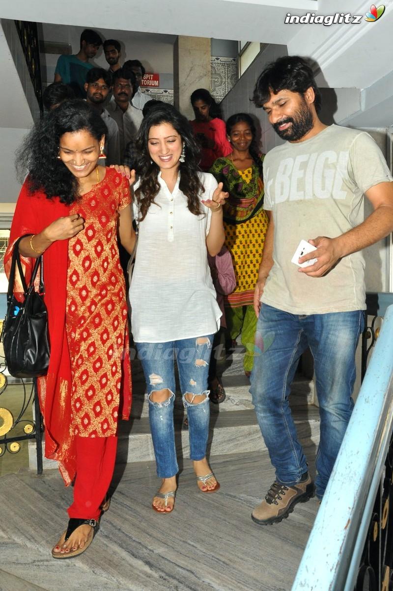 'Rakshakabhatudu' Team At Sapthagiri Theatre