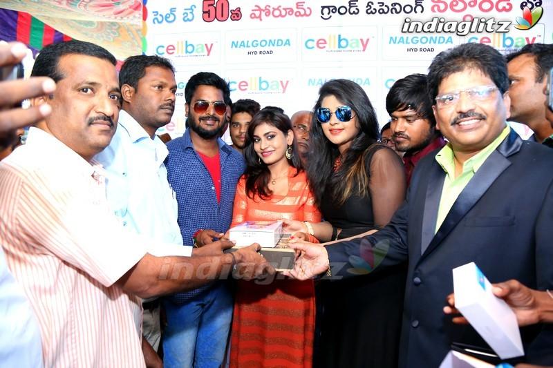 'Runam' Movie Team Launches Cellbay Shop At Nalgonda