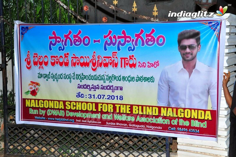 Saakshyam Success Tour @ Blind School and Tirumala Theater, Nalgonda