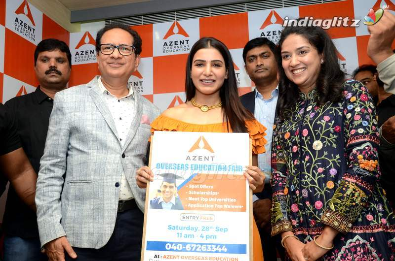 Samantha Launches Azent Overseas Education Center
