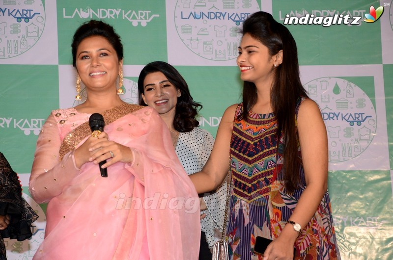 Samantha Launches Laundrykart Mobile App