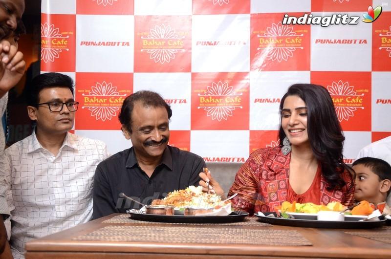 Samantha Launches Bahar Cafe Restaurant @ Panjagutta