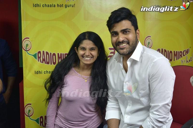 Sharwanand at Radio Mirchi in Vijayawada