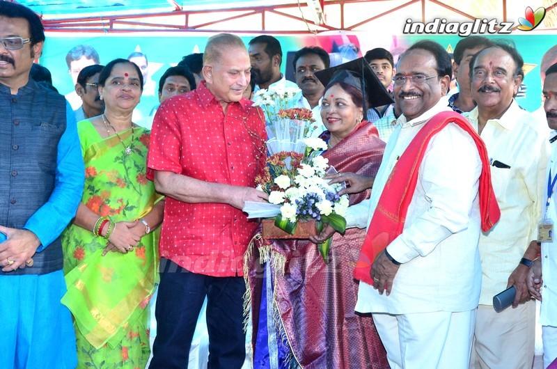 Talasani & MAA Felicitate VijayaNirmala On Receiving Doctorate