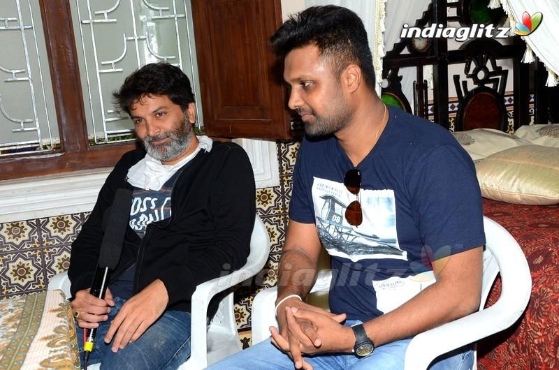 'Aatagadharaa Siva' Hero Uday With Trivikram Srinivas