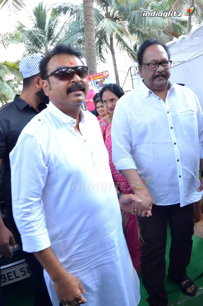 Celebs At Vijaya Nirmala Statue Inauguration